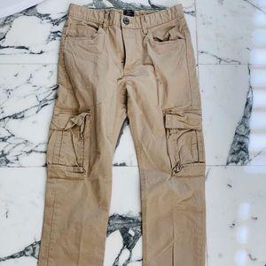 Boy's Skinny Khaki Cargo Pants 16
